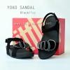 **พร้อมส่ง** รองเท้า FitFlop YOKO SANDAL : Black / Fog : Size US 7 / EU 38