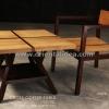 ชุดโต๊ะเก้าอี้ไม้สัก CF-10T/CR-06T