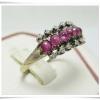 แหวน ทับทิม ฝังเพชร งานเก่า นน. 2.19 g