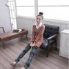 เสื้อตัดต่อคอเชิ้ตแฟชั่นเกาหลี(เกรดA)