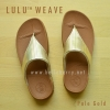 **พร้อมส่ง** รองเท้า FitFlop LULU WEAVE : Pale Gold : Size US 5 / EU 36