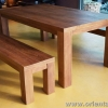 ชุดโต๊ะอาหารและม้านั่งไม้สัก Teak Dining And Bench Set 2