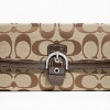 COACH SOHO SIGNATURE BUCKLE SLIM ENVELOPE # 47702 Khaki Mahogany