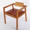 เก้าอี้ไม้สักเบาะหนังแท้ CR-14