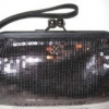 Coach OCC Sequin Framed Large Wristlet # 46727 Gunmetal