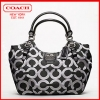 Promotion ลูกค้าเก่า !! COACH MADISON OP ART METALLIC OUTLINE ABIGAIL SHOULDER BAG 18639