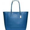 COACH SAFFIANO NORTH/SOUTH CITY TOTE # 23821 สี SILVER / COBALT