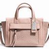 Coach Bleeker Mini Riley Carryall in Leather # 27923 สี SV/Peach Rose