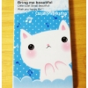 เคสไอโฟน4 แมวเหมียวสีฟ้า