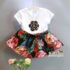 ชุดสาวน้อย ดอกไม้ลาย Chanel มีไซส์ 7(100) 9(110) 11(120) 13(130) 15(140)