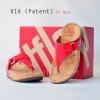 **พร้อมส่ง** รองเท้า FitFlop VIA (Patent) : FF Red : Size US 5 / EU 36