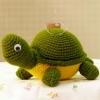 ตุ๊กตาถักโครเชต์เต่าสีเขียว
