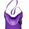 Coach legacy leather duffle # 19889 สี Ultraviolet