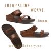 **พร้อมส่ง** รองเท้า FitFlop Lulu Slide Weave : Bronze : Size US 7 / EU 38