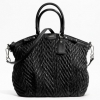Coach madison quilted chevron nylon large lindsey # 18634 Black