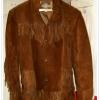 Vintage Mens Pioneer Wear Leather Western Sherpa Rancher jacket coat เสื้อหนังแท้สีน้ำตาลเข้ม ขนาด40 สภาพใหม่เก่าเก็บ 95% from usa +ส่ง EMS