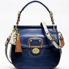 COACH LEATHER COLORBLOCK NEW WILLIS # 19031 B4 / NAVY / IVORY