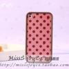 เคสไอโฟน 4/4s sticker polka dot strawberry