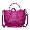 Coach new MADISON LEATHER ANNABELLE # 21223 สี Silver/Magenta