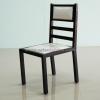 เก้าอี้ไม้สักเบาะหนังแท้ CR-13