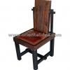 เก้าอี้ไม้พร้อมเบาะหนัง CH-202