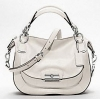 Coach KRISTIN LEATHER ROUND SATCHEL # 19295 สี SILVER / PARCHMENT