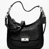 COACH KRISTIN WOVEN LEATHER HOBO # 19314 สี Silver /Black