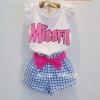 set missfit เสื้อแขนระบาย + กางเกง 5 ชุด/แพค *ส่งฟรี*