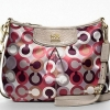 Coach Coach Madison Graphic Op Art Fashion Swingpack # 46667 สี Cherry