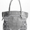 Coach Laura Signature Tote Bag # 18335 Silver Grey