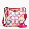 Coach Signature Scribble Multi Print Duffle Shoulder #  23545