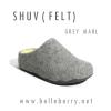 SALE > US 6 รองเท้า FitFlop SHUV (FELT) : Grey Marl : Size US 6 / EU 37
