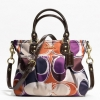 COACH ASHLEY HAND DRAWN SCARF PRINT MINI TOTE # 20347