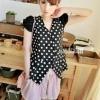 เสื้อตัดต่อแขนตุ๊กตาแฟชั่นเกาหลี