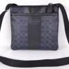 COACH HERITAGE STRIPE SMALL ZIP TOP CROSSBODY # 70591 สี Silver/ Dark Navy/ Navy