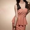 Lace Stitching Short Dress | เดรสตัดต่อแต่งผ้าลูกไม้ สไตล์เกาหลี