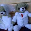 ตุ๊กตาหมี คู่บ่าวสาว ขนาด 11 นิ้ว แบบนั่ง  <<< ขายแล้ว >>>