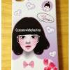 เคสไอโฟน4 ลายการ์ตูนเกาหลีผู้หญิงใส่แว่นสีม่วง
