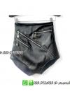 ชุดนักร้องกางเกงหนังสีดำ