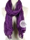 ผ้าพันคอแฟชั่น Cotton Candy : สี Deep Purple