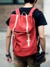 กระเป๋าเป้BACKPACKผ้าสไตล์ถุงแฟชั่นผู้ชายเกาหลีมี2สีสด