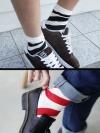 ถุงเท้าลายทูโทนแฟชั่นผู้ชายจากเกาหลีมี2สี