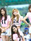 ชุดเชียร์ลีดเดอร์สีชมพู แบบสาว ๆ วง Girls' Generation