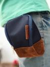 กระเป๋าผู้ชายทรงมินิพื้นหนังแบบห้อยเข็มขัดมี5สี