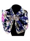 ผ้าพันคอสำเร็จรูป ผ้าไหมซาติน : TB052 - size 65*35 cm