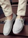 รองเท้าผ้าใบไสตล์ลำลองเชือกผูกข้างแฟชั่นผู้ชายเกาหลีมี3สี