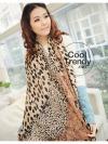 ผ้าพันคอแฟชั่นลายเสือ Jaguar ผ้า Silk Chiffon 160x60 cm
