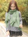 ผ้าพันคอสีพื้น Pastel scarf : สี Jade Green ผ้า viscose size 240 x 170 cm