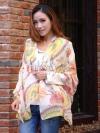 ผ้าพันคอแฟชั่นลายเก๋ Chic Chic : ลาย Indian decor สีขาว : ผ้าพันคอ Silk Chiffon - size 160x70 cm