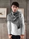 ผ้าพันคอผู้ชาย Man scarf ผ้า cashmere 220*30 cm - สี Gray